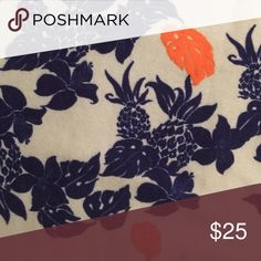 Lularoe Leggings Hawaii Tropical Floral Pineapple GUC LLR leggings. Cute Hawaiian, floral, flower, leaves, pineapple pattern. Worn maybe 4 times. Washed by hand and hung dry. Made in China. LuLaRoe Pants Leggings