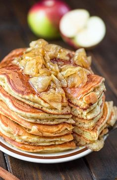 Mom's Apple Pancakes - My WordPress Website Gourmet Breakfast, Breakfast Pancakes, Breakfast Dishes, Breakfast Time, Best Breakfast, Breakfast Recipes, Healthy Recipes On A Budget, Whole Food Recipes, Cooking Recipes
