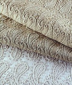 Hand-printed motif fabric  ANGELINA Donghia    Angelina is a beautiful paisley in the tradition of Indian couture embroidery.