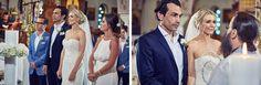 Santorini Wedding - church ceremony Wedding Church, Church Ceremony, Santorini Wedding, Elegant Wedding