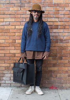 """Tany,38""""I'm wearing vintage, Stussy, Beams, and Converse. I like mixing different styles like outdoor, military, sports, native american, workwear. My favorite labels are Sk8, Stussy, and S/Double.""""Dec13,2016 ∙ The Mission"""