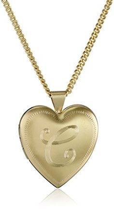 """18k Gold-Plated Personalized with Initial Heart Locket Necklace, 24"""" - CHECK OUT @ http://www.ilikeboutique.com/boutique/18k-gold-plated-personalized-with-initial-heart-locket-necklace-24/?a=2660"""