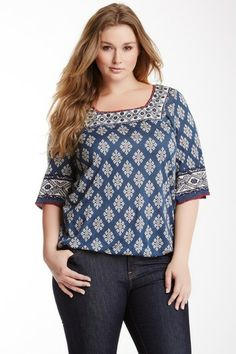 Portland Tunic (Plus Size) by Lucky Brand on @HauteLook