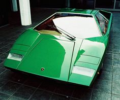 "The classic 1985 Countach in ""Countach Green"". This has always been the epitome of Italian sports cars, and always will be."