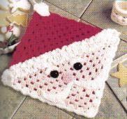 free crochet santa hot pad pattern