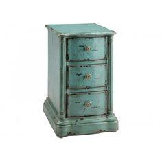 Ilana Chairside Chest In Vintage Turquoise Blue | 47774 STEIN WORLD | Stein  World