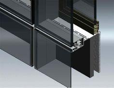 Detalle de Vidrio estructural en fachadas