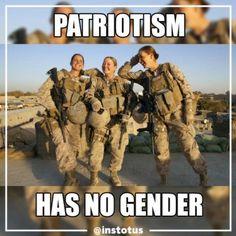 Patriotism his no gender!