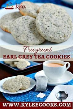 These Earl Grey Tea Cookies are delicately flavored with fragrant tea, a hint of orange zest, and are crispy, unique and amazing! grey via Kylee Cooks Earl Grey Cookie Recipe, Earl Grey Cookies, Tea Cookie Recipe, Tea Recipes, Cookie Recipes, Dessert Recipes, Just Desserts, Delicious Desserts, Yummy Food