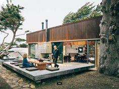 deck, fireplace, steel