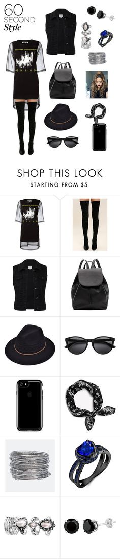 """""""60 seconds black"""" by luisferni-1988 ❤ liked on Polyvore featuring McQ by Alexander McQueen, Cape Robbin, Witchery, Speck, rag & bone, Avenue, tshirtdresses and 60secondstyle"""