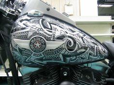 Sharpie Art by Pinstripe Chris - Sharpie Harley Davidson