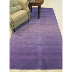Eorc Hand-tufted Wool Purple Purple Horizon Rug (5' x 8') ((5' x 8')), Size 5' x 8'