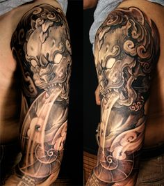 Amazing Foo Dog Tattoo Ideas (1)