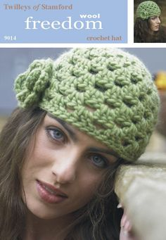 Crochet Hat in Twilleys Freedom Wool - 9014. Discover more Patterns by Twilleys at LoveCrochet. We stock patterns, yarn, hooks and books from all of your favorite brands.