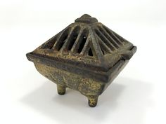 Vintage Incense Burner, Vantine's #574/2, Cast Iron Cone Incense Burner, circa 1920s