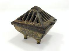 Vintage Incense Burner, Vantine's #574/2, Cast Iron Cone Incense Burner, circa 1920s Vintage Metal, Vintage Items, Cast Iron, It Cast, Incense Burner, Golden Color, 1920s, Oriental, Decorative Boxes