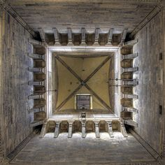 Inside of Giotto's Campanile, Firenze, Italy