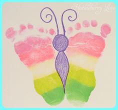 Huckleberry Love: Rainbow Footprint 'Butterflies'