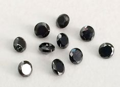 WHOLESALE 200 Pcs 1mm Black Cubic Zirconia Loose by gemsforjewels