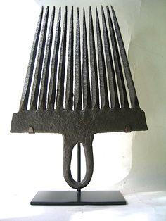 Flax Rippler. Wrought-Iron. Circa 1790's.