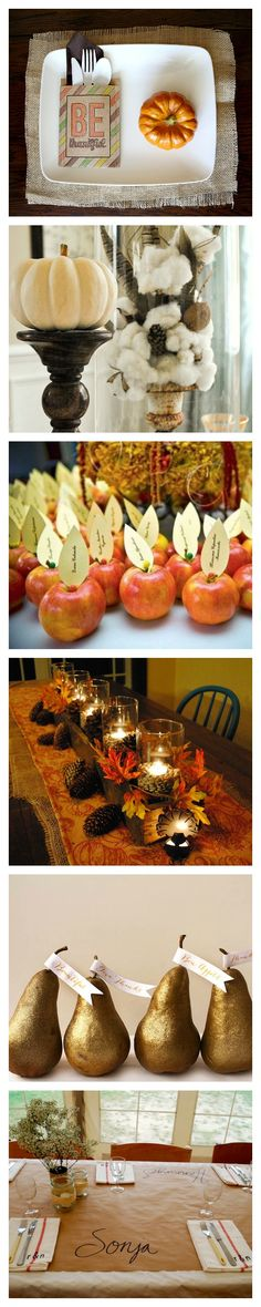 Wow your Thanksgiving guests with these table decoration ideas.
