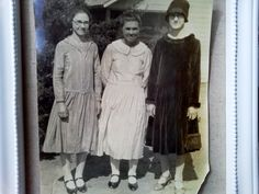 Vintage 1920's Sepia tone photo of ladies 8 x 10 by ARTCPACKRAT on Etsy
