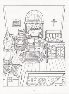 The Victorian House Coloring Book Dover Publications