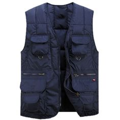 Ubestyle-Mens-Pockets-Jacket-Winter-Warm-Cotton-padded-Vest-Outwear-Casual-Gilet