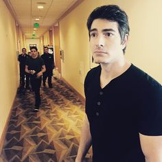 Mr @BrandonJRouth being ousted from the #Arrow shuttle #SDCC You have your own show now big man! #LegendsofTomorrow