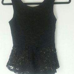 Black Lace Top with Bow on Back Cute top with amazing design throughout and has a  wonderful black bow on back. The bow is very catching!  Check out my online store at :     daisys-fashion.com  Follow me on Instagram @daisys_fashion  Thanks! Ambiance Apparel Tops