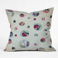 Natalie Baca Circles At Play Throw Pillow   DENY Designs Home Accessories