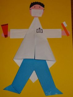 Knutselen beroepen - tandarts ~ Juf Milou