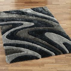 Decorative with luxury and fashion shag area rugs offer strong and stable surfaces. The rugs have become a trend for home improvement decor Grey And White Rug, White Area Rug, Contemporary Area Rugs, Modern Area Rugs, Wayfair Carpets, Wool Area Rugs, Wool Rug, Black Shag Rug, Overstock Rugs