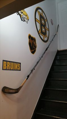 Hockey Themed Rooms For Boys - Life ideas Prepare educational institutions offer fantastic school knowledge Hockey Man Cave, Sports Man Cave, Kids Basement, Man Cave Basement, Basement Ideas, Cozy Basement, Hockey Stick Crafts, Hockey Sticks, Crosse De Hockey