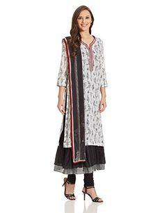 9d68e009f BIBA Women s Straight Salwar Suit (SKD4892 Black and White 34
