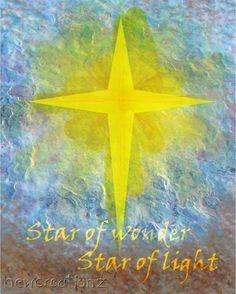 Handmade Christmas card 3D  Star of wonder and by NewCreatioNZ