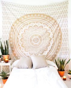 Gold Glimmer Tapestry from The Bohemian Shop