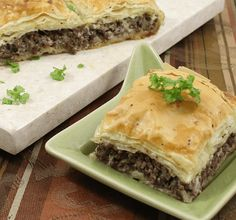 Learn more about this meat appetizer called Egyptian Goulash using Athens Foods Phyllo Dough.