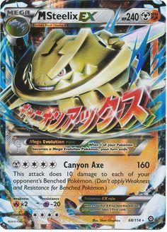 Mega Steelix EX 68/114 XY Steam Siege, Holo Pokemon Card - Brand New – The Pokemart