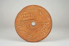 Spindle Whorl - reverse  Date: ca. 1860 Geography: Canada, British Columbia Culture: Salish Medium: Wood Dimensions: Diam. 7 1/4 in. (18.4 cm)