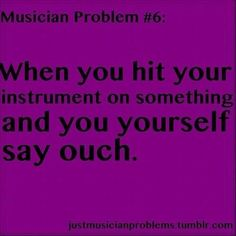 Just one of those quirks we musicians have