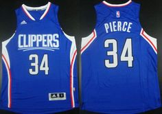 Men's Los Angeles Clippers #34 Paul Pierce Revolution 30 Swingman 2015 New Blue Jersey