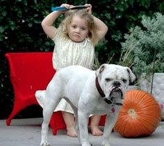 """""""Youngsters of the age of two and three are endowed with extraordinary strength. They can lift a dog twice their own weight and dump him into the bathtub. — Erma Bombeck [pinned by PartyTalent.com]"""
