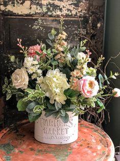 Spring Flower Arrangements, Beautiful Flower Arrangements, Wedding Flower Arrangements, Silk Flowers, Spring Flowers, Beautiful Flowers, Flowers Garden, Wedding Flowers, Artificial Floral Arrangements