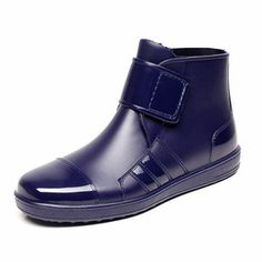 Men Casual Short Rain Boots Waterproof Outdoor Non-Slip Flats