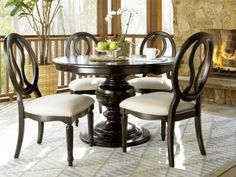 Dining Room Table with Chair Fresh Universal Furniture Summer Hill 70 Round Midnight Dining Dining Room Design, Dining Room Chairs, Dining Room Furniture, Side Chairs, Dining Rooms, Furniture Ideas, Round Dining Room Sets, Round Dining Table, Dining Set