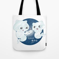 Buy Ghost cat Tote Bag by chaploart. Worldwide shipping available at Society6.com. Just one of millions of high quality products available.