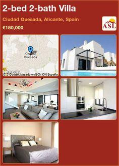2-bed 2-bath Villa in Ciudad Quesada, Alicante, Spain ►€180,000 #PropertyForSaleInSpain