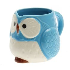 Turquoise Gloss Owl mug - cute for your tea